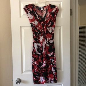 Mango MNG Suit black/red/white floral dress